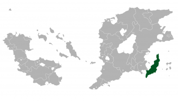 Location of Pinnipedia (green) in Outernatia.
